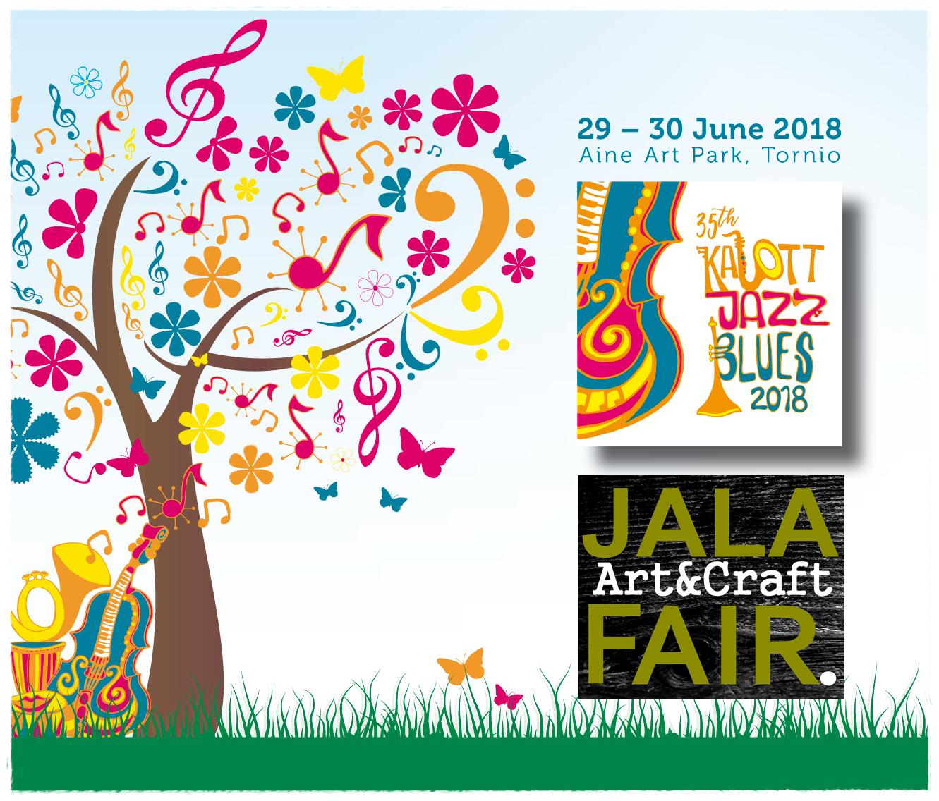 Jala Art & Craft Fair goes Kalottjazz & Blues!