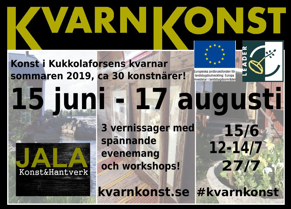 Kvarnkonst / Myllytaide / Kukkola Mill Summer Art